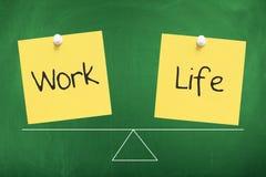 Work Life Balance. Concept on chalkboard Royalty Free Stock Image