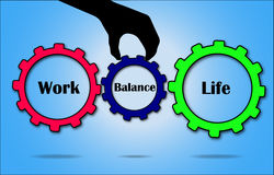 Work Life Balance Concept illustration using Gears Royalty Free Stock Photography