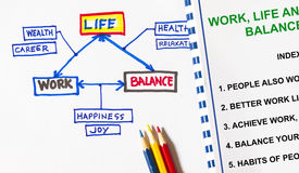 Work life and balance concept Stock Photo