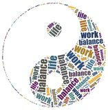 Work life balance concept. Word cloud illustration Stock Images