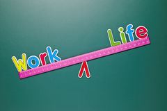 Work and life balance concept with words and drawing Royalty Free Stock Photo