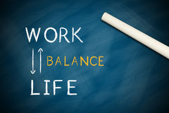 Work life balance. Concept written on chalkboard royalty free illustration