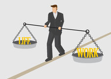 Work Life Balance Conceptual Vector Illustration Royalty Free Stock Photos