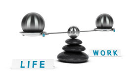 Work and Life Balance Dichotomy Royalty Free Stock Photography