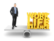 Work life balance. An image of a handsome business man in work life balance Royalty Free Stock Images