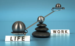 Work and Life Balance Over Blue Royalty Free Stock Image