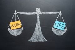 Work life balance scales business and family lifestyle choice.  royalty free stock photography