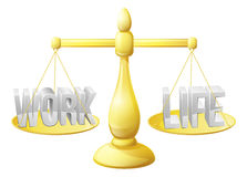 Work life balance scales Stock Photography
