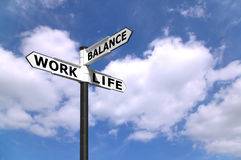 Work Life Balance signpost Stock Photography