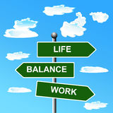 Work life balance, street signs vector illustration Royalty Free Stock Image