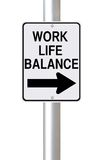 Work Life Balance This Way Stock Image