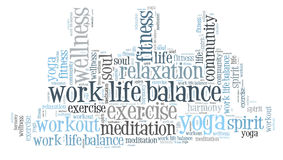 Work life balance. And wellbeing Stock Photo