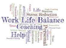 Work life Balance word cloud Stock Photos