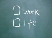 Work or life choice Stock Photo
