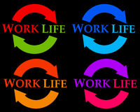 Work life cycle. Finding the right balance between work and life Stock Photography