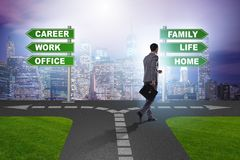 The work life or home balance business concept. Work life or home balance business concept Royalty Free Stock Photography
