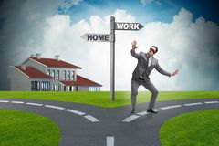 The work life or home balance business concept. Work life or home balance business concept Stock Images