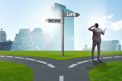 The work life or home balance business concept. Work life or home balance business concept Stock Image