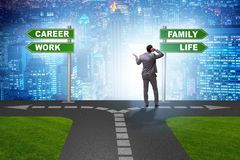 The work life or home balance business concept. Work life or home balance business concept Stock Photography