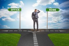 The work life or home balance business concept. Work life or home balance business concept Stock Photos