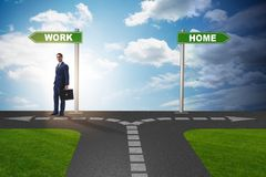 The work life or home balance business concept. Work life or home balance business concept Royalty Free Stock Photo