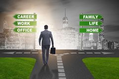 The work life or home balance business concept. Work life or home balance business concept Royalty Free Stock Images