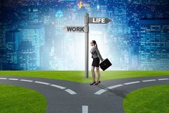 The work life or home balance business concept. Work life or home balance business concept Stock Photo