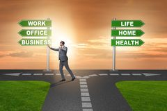 The work life or home balance business concept Royalty Free Stock Images