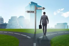 The work life or home balance business concept. Work life or home balance business concept Royalty Free Stock Photos