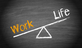 Work-life imbalance. Concept on a blackboard, business and lifestyle concept royalty free stock images