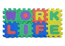Work Life Puzzle Stock Photography