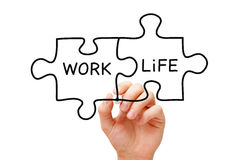Work Life Puzzle Concept royalty free stock photos