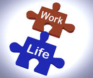 Work Life Puzzle Shows Balancing Job Stock Photos