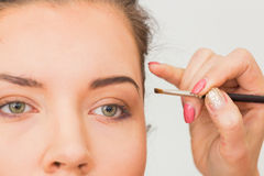 Work of make-up artist Stock Photos