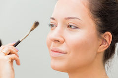 Work of make-up artist Stock Photography