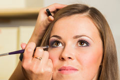 Work of make-up artist Royalty Free Stock Image