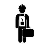 Work man icon Royalty Free Stock Photography