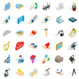 Work man icons set, isometric style Royalty Free Stock Photography