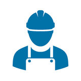 Work man vector icon. Isolated on white background Royalty Free Stock Photos
