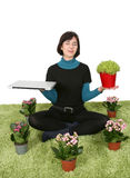 Work meditation Royalty Free Stock Photo