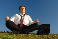 After-work meditation Stock Image