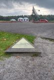 Work at the memorial stone in 102,000 Camp Westerbork. Netherlands Royalty Free Stock Photography
