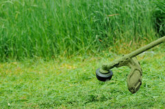 The work of the mower cutting Stock Photography