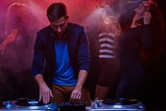 Work in nightclub Stock Photography