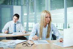 Work in office Stock Image