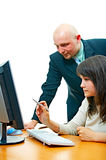 Work in office Royalty Free Stock Image