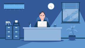 work in the office. Art illustration royalty free illustration