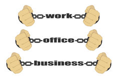 Work, office, business signs Stock Images