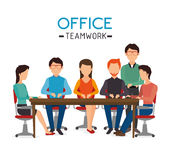 Work office design. Royalty Free Stock Photography