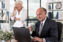 Work in the office Royalty Free Stock Photography
